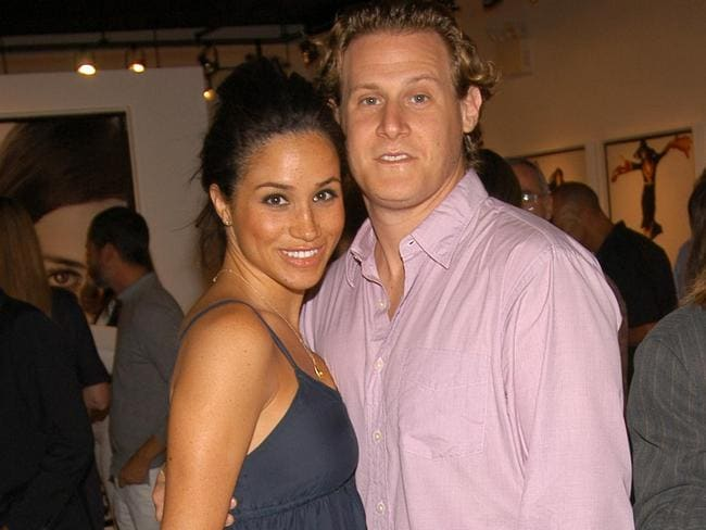 Megan Markle with her now ex-husband Trevor Engelson