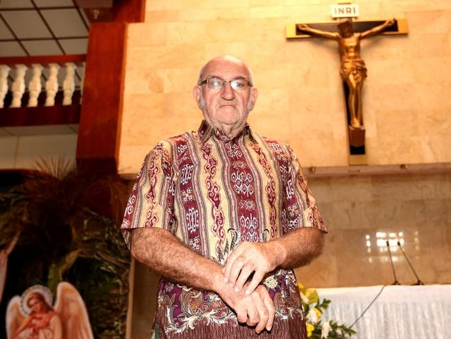 Spiritual guidance ... Father Charlie Burrows, an Irish Catholic Priest in Cilacap, witnessed the executions of Andrew Chan and Myuran Sukumaran and five other prisoners. Picture: Adam Taylor