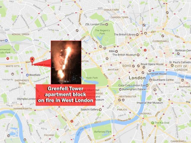 Grenfell Tower blaze.