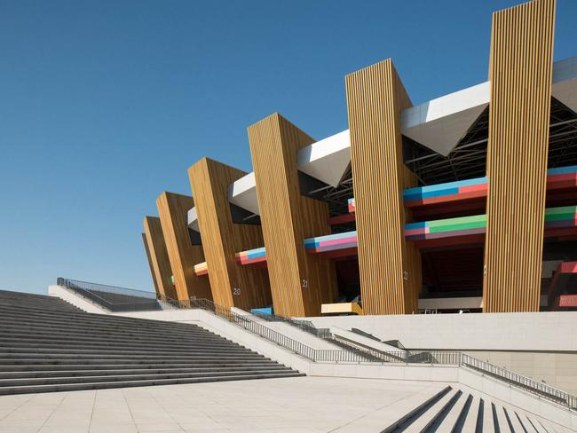 The buildings in Ordos may look stunning, but they are already starting to crumble. Picture: Raphael Olivier