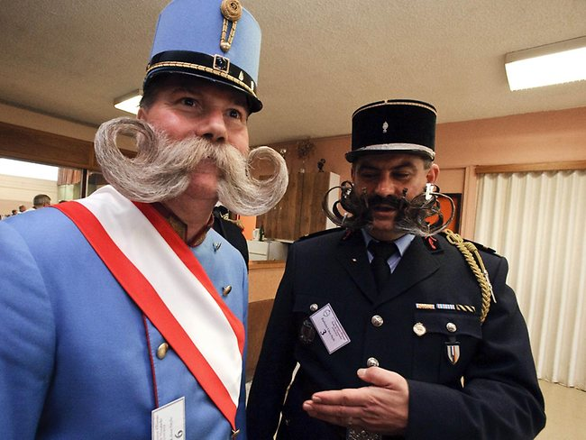 Competitors at the European Beard and Moustache championships in Wittersdorf, eastern France. AFP PHOTO / SEBASTIEN BOZON