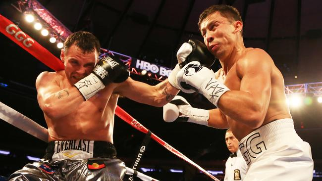 Aussie Daniel Geale was beaten by Gennady Golovkin at Madison Square Garden.