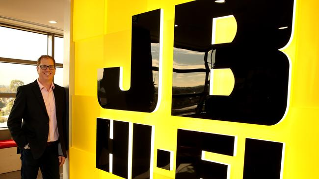 Richard Murray, CEO of JB Hi-Fi. Safe to say it's not his initial in the name of the company. Picture: Stuart McEvoy for the Australian