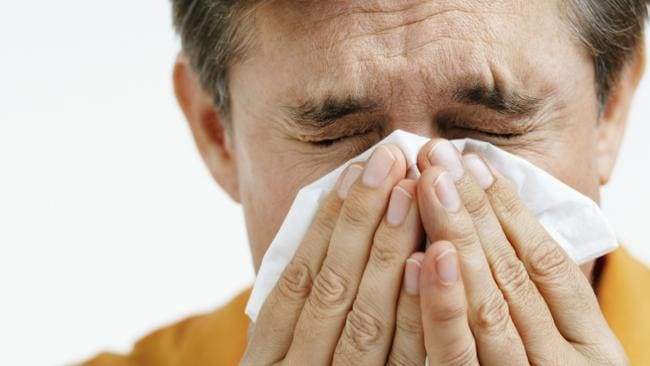 Sneezing: a surprising sign of advancing years.
