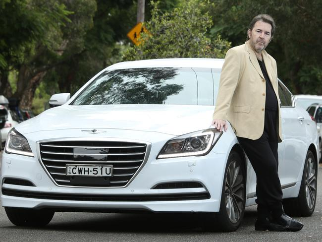 Sean Howard, from Edgecliff, bought a Hyundai Genesis instead of a luxury German badge. Picture: Bob Barker.