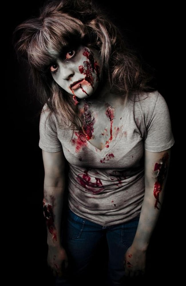 Not in this world ... A zombie woman.