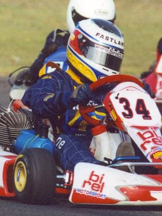 Back in the day when he was winning on go-karts. Picture: Supplied