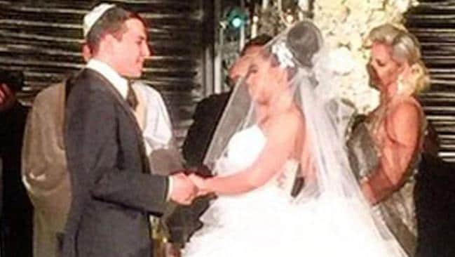 Anna Goldschmidt and Elan Stratiyevsky at their Waldorf Astoria wedding. Picture: Instagram