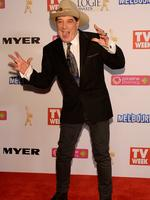 Molly Meldrum on the Logies red carpet this year. Picture: Jason Edwards