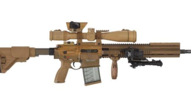 The G28 has a compact semiautomatic sniper system. (Heckler & Koch)