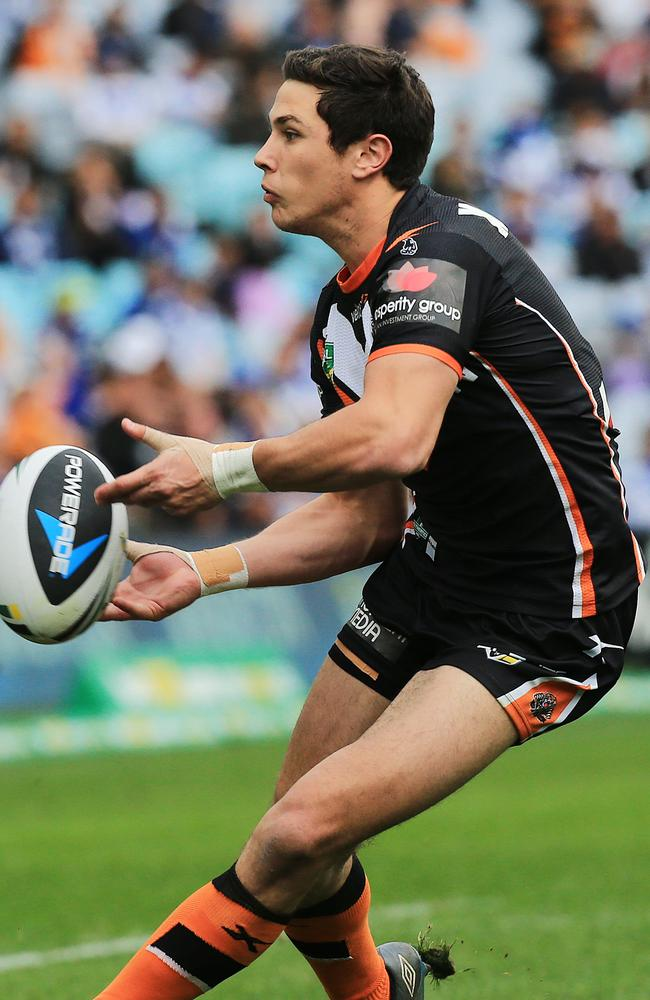 Mitchell Moses of the Tigers in action.