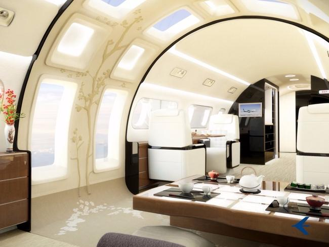 Unlike most aircraft, these business jets would be flooded with natural light. Picture: Embraer