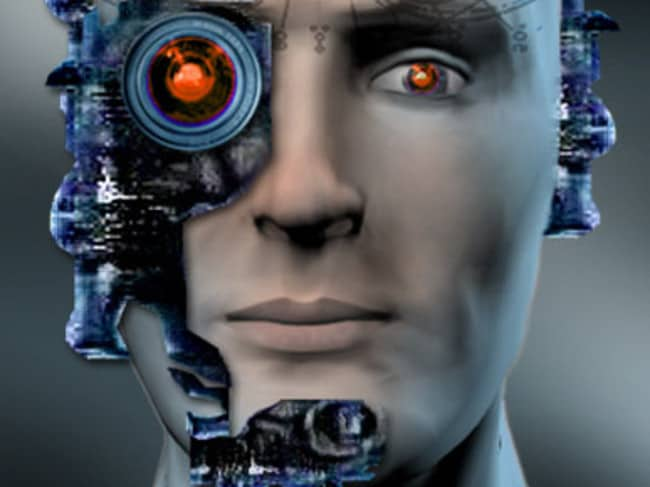 Elon Musk believes humans will have to merge with technology. Picture: MSNBC Illustrations.