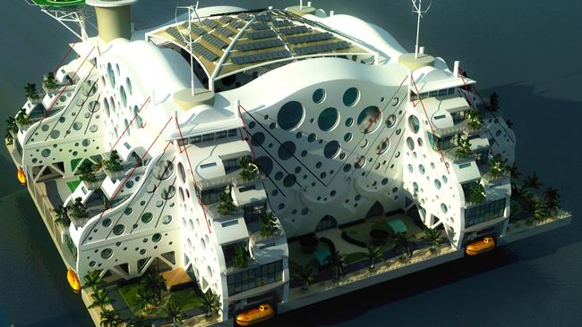 A seastead design competition entrant, Oasis of the Seas. Picture: seasteading.org