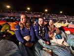 Gallipoli, Turkey. Australians and New Zealander attend the Anzac Day dawn service at Anzac Cove. Ingrid Salamonsen, 25, Samantha Martin, 24 and Samantha Collier, 25. Picture: Ella Pellegrini