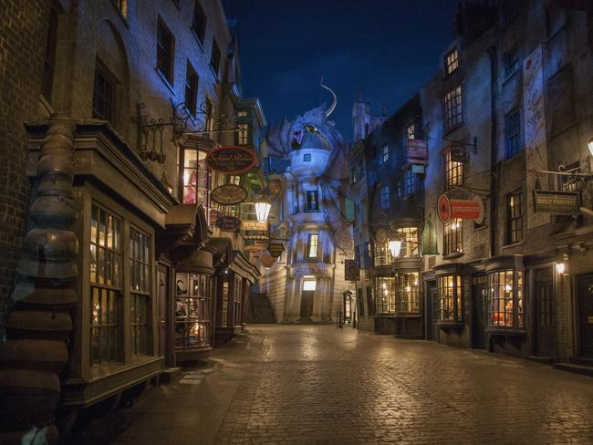 Diagon Alley will feature shops, rides and spooky creatures.