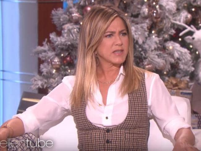 "Aniston calls for readers to stop buying ""B.S. tabloids"" during her Ellen appearance."