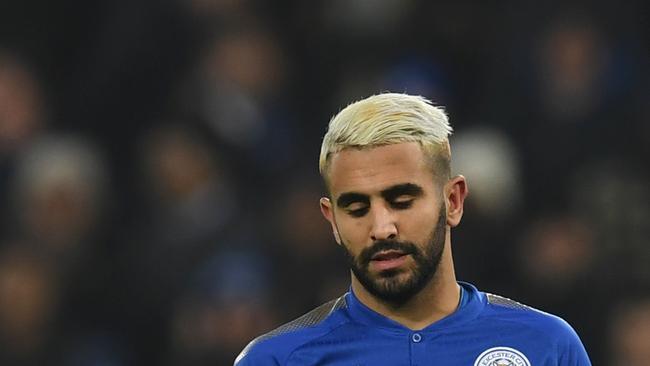 Leicester City's Algerian midfielder Riyad Mahrez
