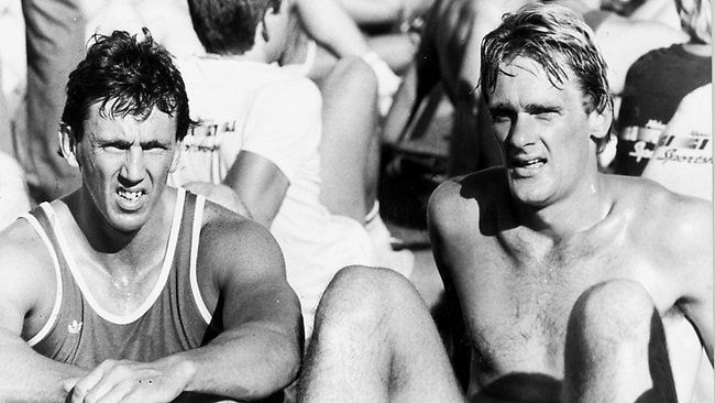Melbourne recruits Kelvin Templeton and Peter Moore in 1984.