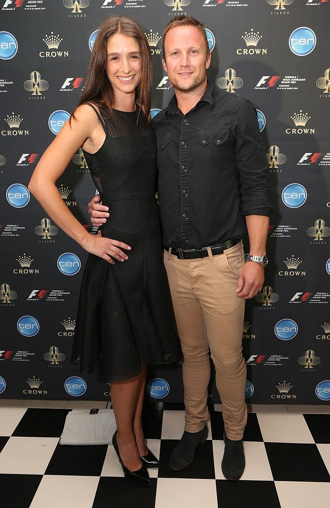 Former AFL footballer Nathan Brown (right). Picture: Julie Kiriacoudis