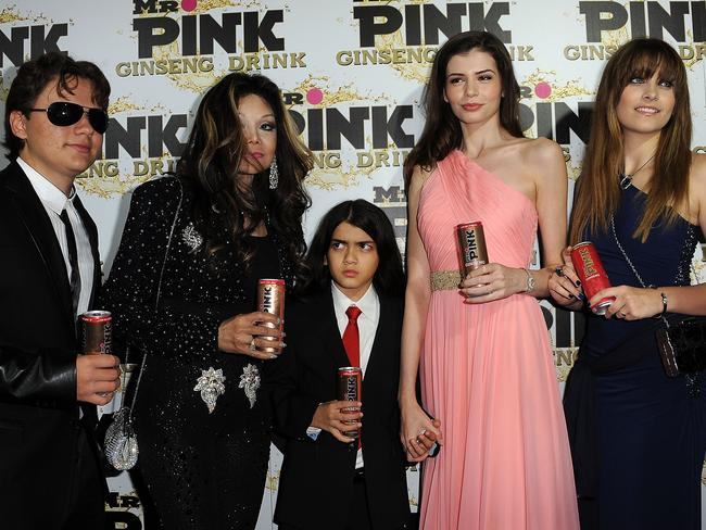 Prince Michael Jackson, LaToya Jackson, Blanket Jackson, Monica Gabor and Paris Jackson in October 2012.