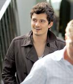 <p>Orlando Bloom .. in Sydney at the Catalina restaurant in Rose Bay where he met girlfriend Miranda Kerr's parents for the first time. Pic Cameron Richardson</p>