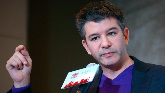 Travis Kalanick, CEO of the global ridesharing service Uber, has taken indefinite lave from the company. Picture: AFP PHOTO / WANG Zhao