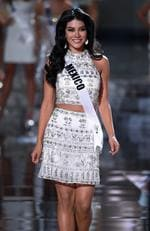 Miss Mexico 2015, Wendy Esparza, walks onstage during the 2015 Miss Universe Pageant on December 20, 2015 in Las Vegas. Picture: Getty