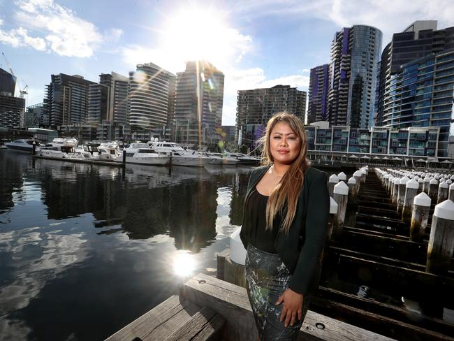 It's curious there's still many apartments being approved in Victoria, after real estate agent Mariecris Tagala last year claimed more than half of new apartments in Melbourne's CBD, Docklands, and Southbank have sold at a loss since 2011. Picture: David Geraghty / The Australian.