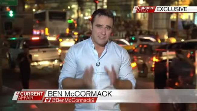 Ben McCormack on air for A Current Affair. Picture: Channel 9