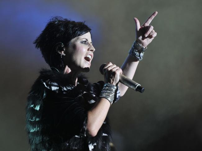 Dolores O'Riordan was a superb live performer. Picture: AFP/Guillaume Souvant