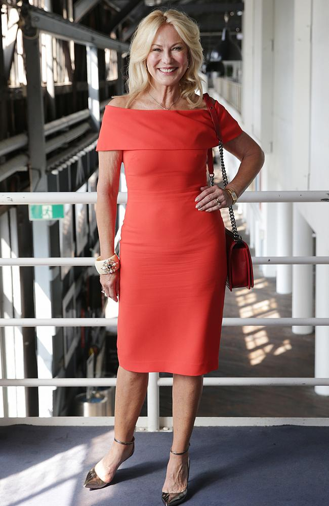 Kerri-Anne Kennerley at the Carla Zampatti Spring/ Summer Show at the Sydney Theatre Company, Walsh Bay.