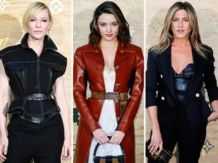 Cate Blanchett, Miranda Kerr and Jennifer Aniston at the launch of a Louis Vuitton leather goods collection. Picture: Supplied