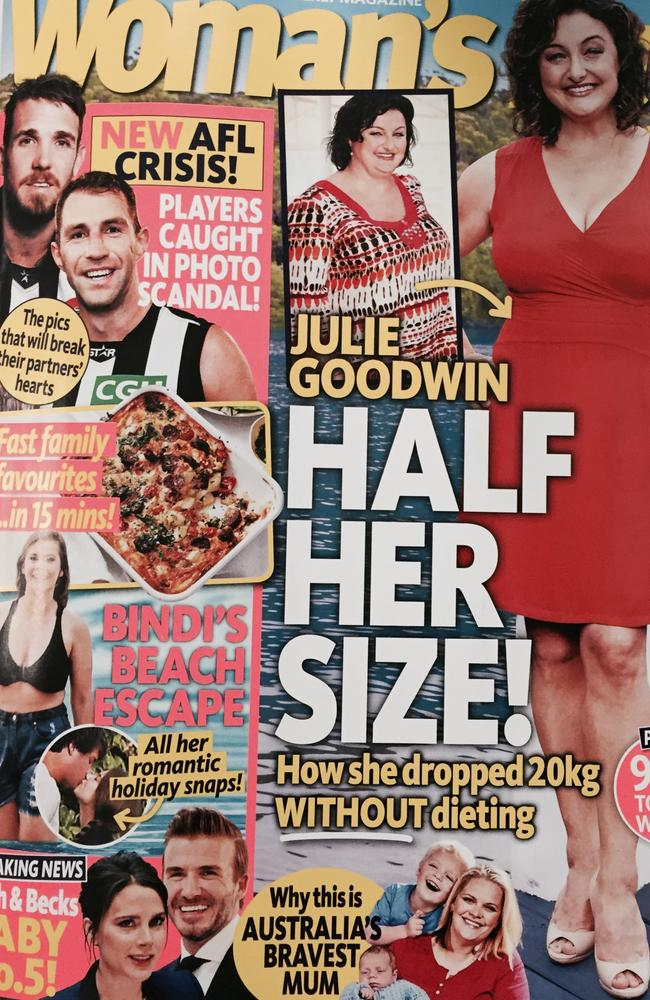 Dane Swan and Travis Cloke on the front cover of Woman's Day.