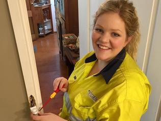 Caitlin Maggs runs an electrical company in Canberra, but says customers are often shocked when a woman turns up to work on their house.