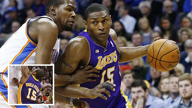 """NBA player Ron Artest had to sort out a stack of unpaid parking tickets before he could officially become """"Metta World Peace""""."""
