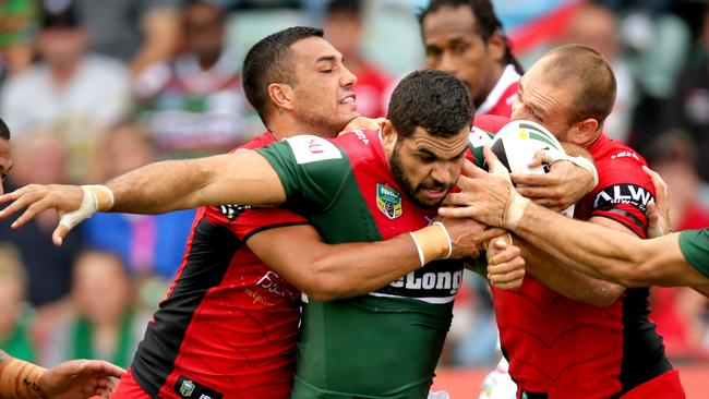 Dylan Farrell has been one of the success stories of the season for the Rabbitohs. Picture Gregg Porteous