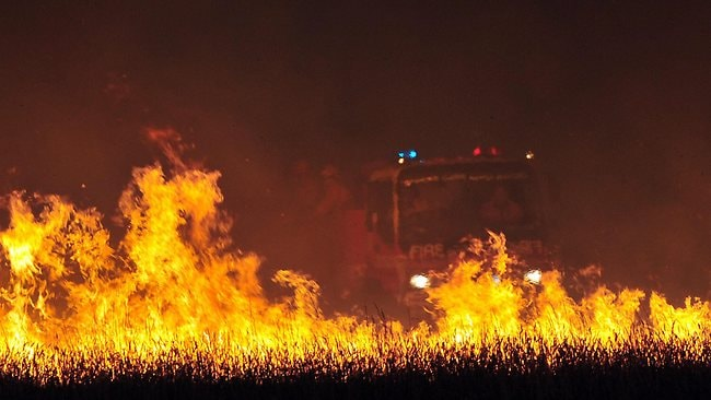 Fire rages at Dawson