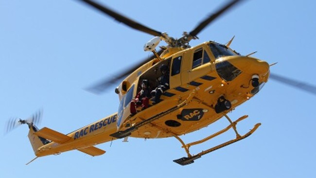RAC rescue helicopters were sent to two separate incidents in the South West and Wheatbelt. Picture: Supplied