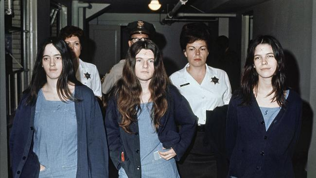 Susan Atkins, Patricia Krenwinkel and Leslie Van Houten were convicted of murder for the Manson Family murders. Picture: AP