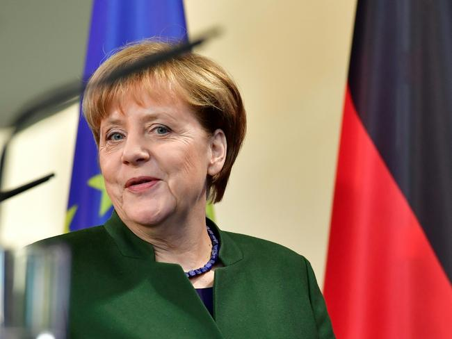 German Chancellor Angela Merkel announced she would run for a fourth term recently. Picture: AFP/ John MacDougall