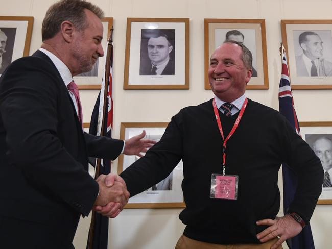 Back in the House ... Barnaby Joyce was forced into a by-election after being found to hold New Zealand citizenship. AAP/Lukas Coch