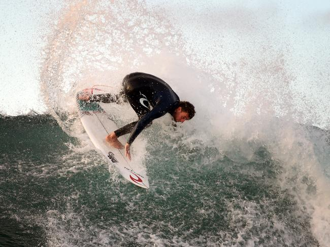 Wilko during a free surf sesh. Picture: Jason Sammon