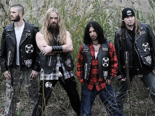 Zakk Wylde, second from left, was accidentally sent to a porn shoot by his mum.