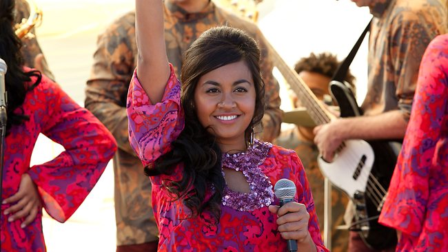 True story: Actor and singer Jessica Mauboy, as she appears in upcoming 2012 film 'The Sapphires'.