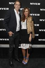 Collingwood's captain Nick Maxwell arrives with wife, Erin. Picture: Julie Kiriacoudis