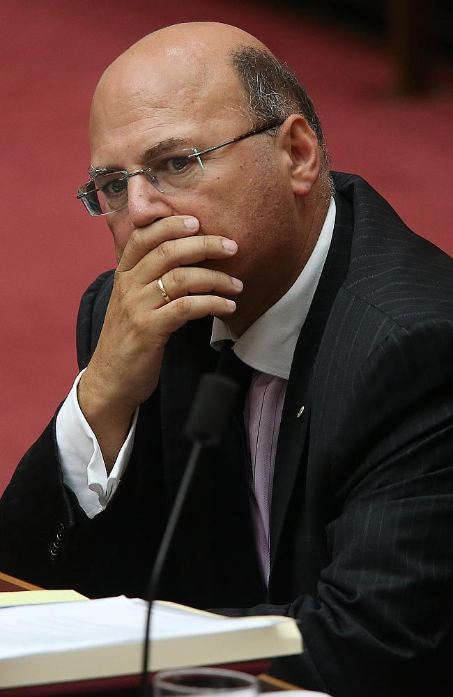 Standing aside ... Senator Arthur Sinodinos has stepped down amid an ICAC inquiry into a huge business deal involving former state Labor powerbroker Eddie Obeid.