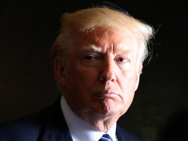 US President Donald Trump has promised to get to the bottom of the Manchester intelligence leaks. Picture: AFP