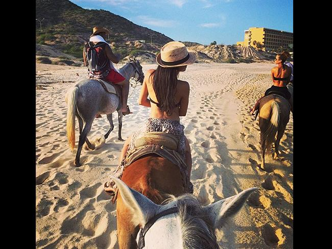 "Glee actress Naya Rivera, ""Horsing around ...' Picture: Instagram"