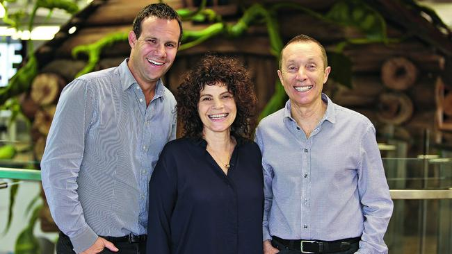 Family business: Paul Solomon, Jacqui Tobias and Manny Stul.
